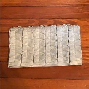 Silver boutique clutch